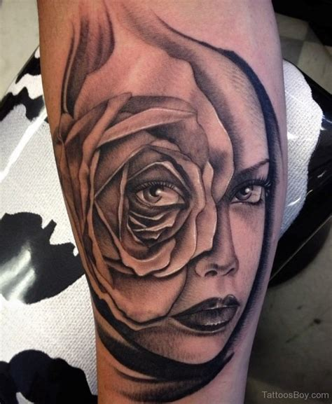 girl rose tattoo flower tattoos designs pictures page 8