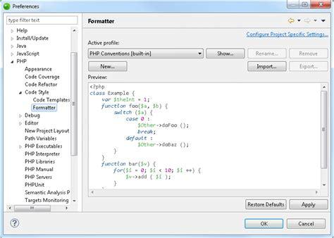 configure xp zend studio formatter preferences zend studio 13 6