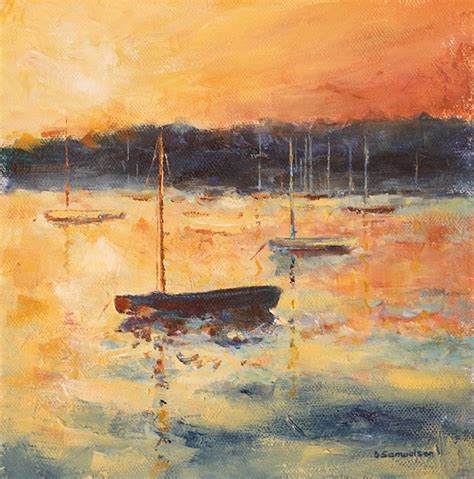 acrylic painting holidays uk becky samuelson arts acrylic paintings sunset
