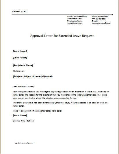 5 approval letter templates for ms word document templates