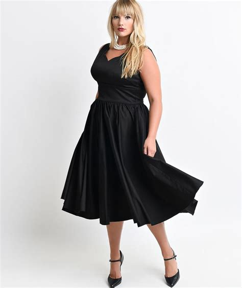 Plus Size 1950s Style Dresses Fifties Fashion For Women