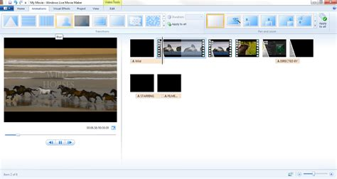 windows live movie maker tutorial visual effects how to add visual effects and animations in windows live