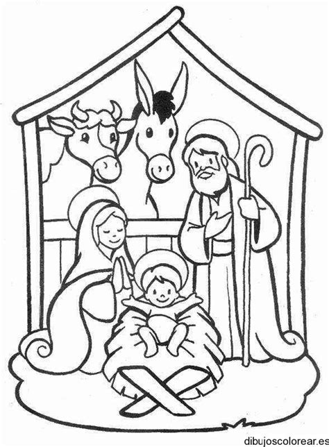 holy family color pages pinterest