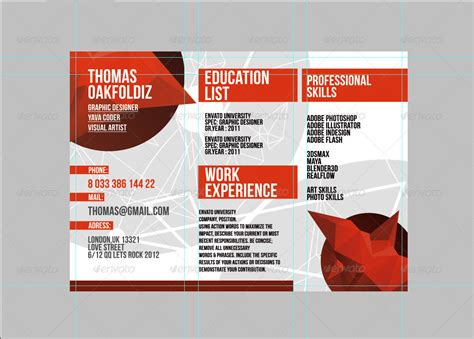 trifold resume template by iqdiz graphicriver