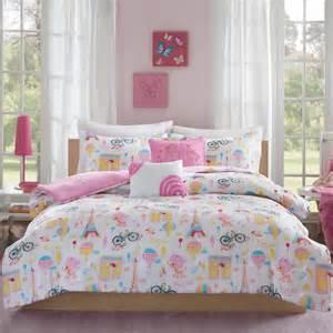twin paris bedding pink bonjour paris girls bedding twin or full comforter