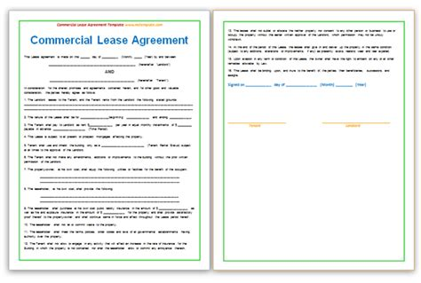 commercial lease template word 13 commercial lease agreement templates excel pdf formats