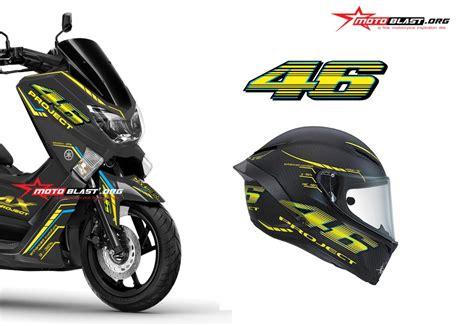 Yamaha Vr46 Harga Yamaha Nmax Black Ala Helmet Agv Vr46 Project
