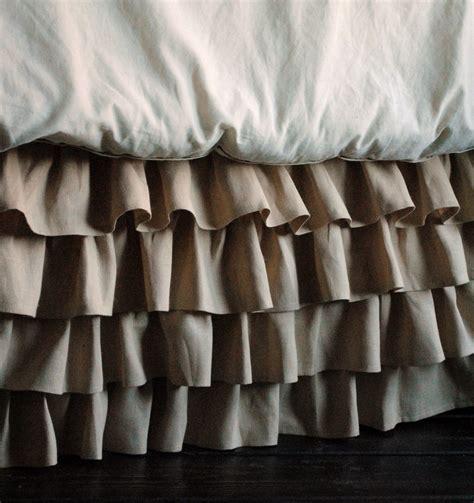 full bed skirt ruffled linen bed skirt twin and full by paulaanderika on etsy