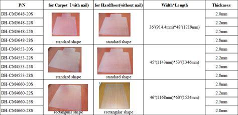 standard size chair mat cheap carpet protector mat plastic chair floor mats