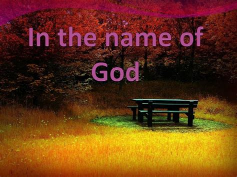 in the name of ppt in the name of god powerpoint presentation id 2267833