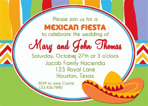 Mexican Fiesta Party Invitation Printable Or Printed With Free Mexican Invitation Templates Free