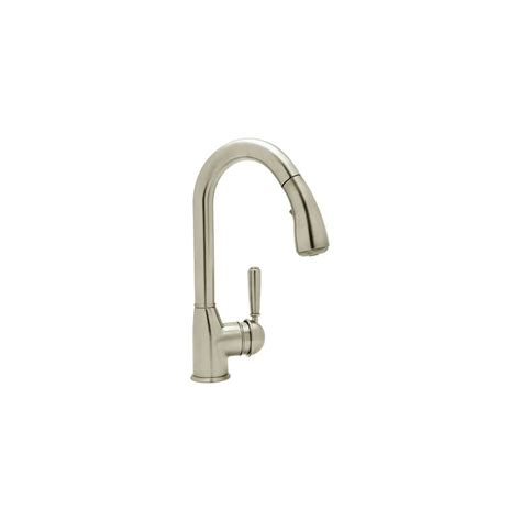 rohl pull out kitchen faucet faucet com r7504slmstn 2 in satin nickel by rohl