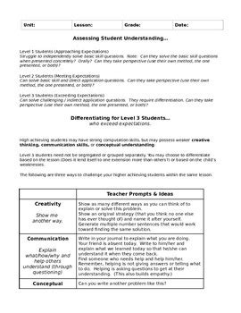 singapore math lesson plan template singapore math lesson planning template by allison tpt