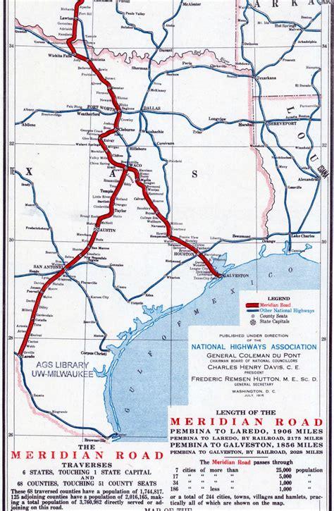 meridian texas map meridian highway thc texas gov texas historical commission