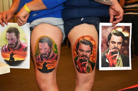 tattoo expo hours leonardo dicaprio from the movie django unchained made it