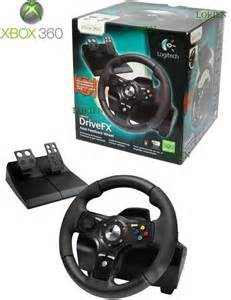Steering Wheel And Pedals For Xbox 360 And Pc Logitech Drivefx Steering Wheel For Xbox 360 163 29 99