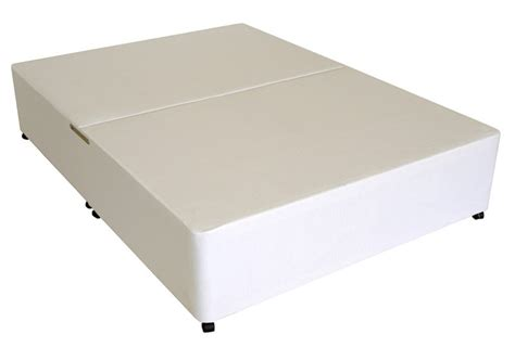bed base only deluxe 5ft king size divan bed base only in white cotton