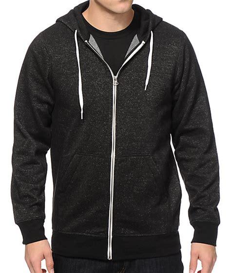 Zipper Hoodie zine hooligan black speckle zip up hoodie