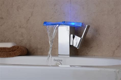 led faucets for bathrooms contemporary chrome color changing led bathroom sink