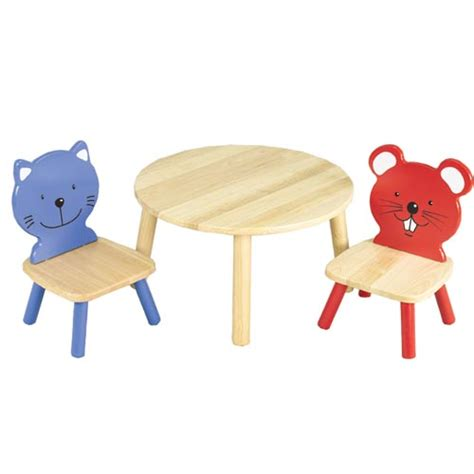 pintoy chair table and animal chairs set by pintoy