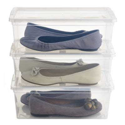 lakeland shoe storage large stackable clear shoe boxes with lids x 3