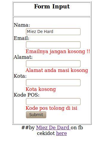 membuat form komentar dengan html membuat komentar saat textbox masih kosong dengan script