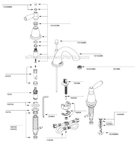 Moen Shower Faucet Repair by Moen T6620bn Parts List And Diagram Ereplacementparts