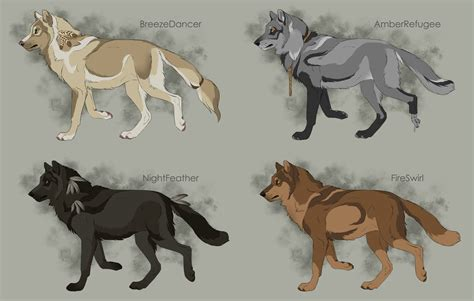 semi realistic wolf adoptables 2 closed by therbis on