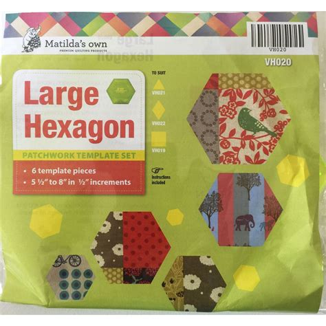 Hexagon Shapes For Patchwork - matilda s own large hexagon patchwork template set