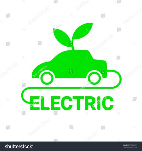 electric vehicles symbol electric car logo template sign icon stock vector