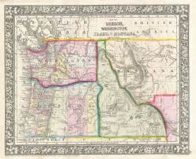 map of idaho and oregon road map of oregon and idaho
