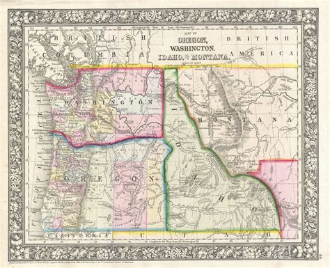 a map of oregon and washington file 1866 mitchell map of washington oregon idaho and