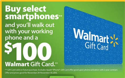 Free 100 Walmart Gift Card Phone Call - walmart black friday smartphone deals include some major devices