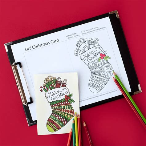 printable christmas postcards free christmas card printable template coloring page