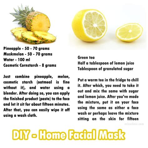 diy home recipes diy home masks recipes my healthy side