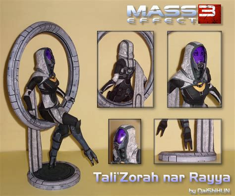 Mass Effect Papercraft - tali zorah nar rayya papercraft citadel dlc by daishihun