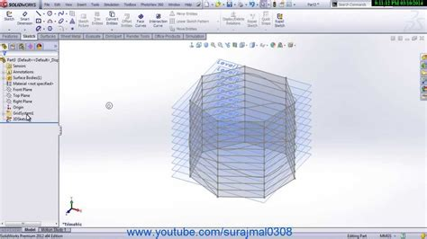 Grid Pattern Solidworks | solidworks 3d grid system youtube
