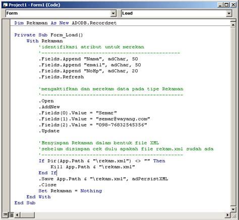 membuat xml file es es ka membuat dan menyimpan data dalam format xml
