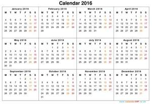 calendar year template 2016 printable calendar templates search results