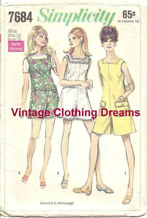 pattern for jumper shorts 1960s 60s pantdress pant dress jumper shorts pattern