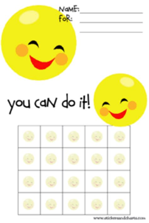 smiley face behavior charts for preschoolers