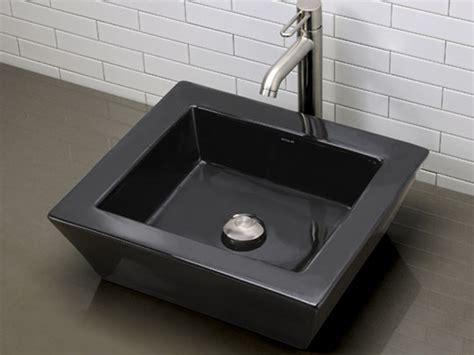 black square vessel sink arched square black ceramic vessel