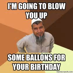 Meme Birthday - muslim at a birthday