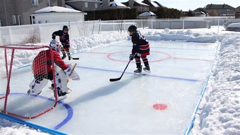 backyard ice hockey rink kit for backyard arctic ice rink