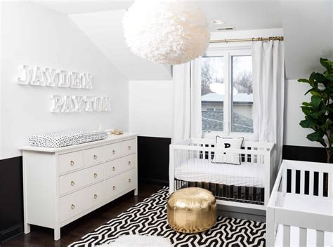 The Chicago Life Blog A Bold Black And White Nursery Black And White Nursery Decor