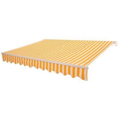 obi markise obi gelenkarm markise aventura 300 cm x 200 cm gelb wei 223