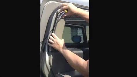 How To Trim A Window Interior Hummer H2 Rear Window Regulator Youtube