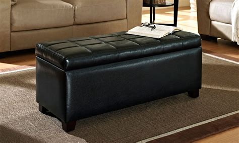 black storage ottoman worldwide homefurnishings inc abby storage ottoman