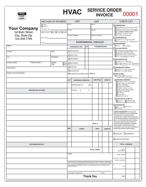 Maintenance Requirement Card Template by Hvac Service Report Coolman Hvac Service