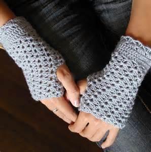 crocheted fingerless mittens pdf crochet pattern